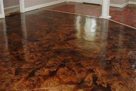 pic of commercial wood floor being polished acid stained concrete floors are they for you