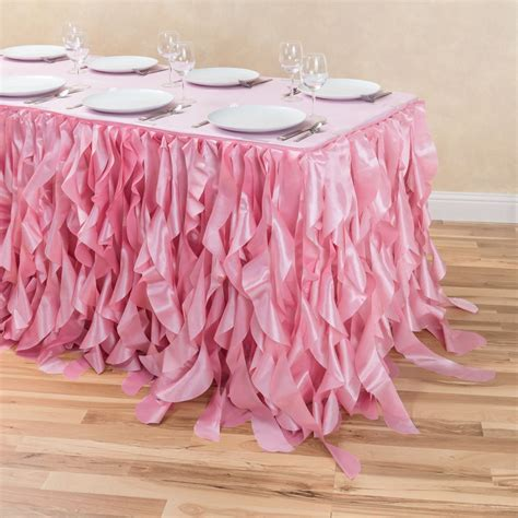 Sale Curly Flower Ungu Pink 21 ft curly willow table skirt pink