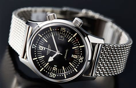 longines dive on the longines legend diver now on mesh time