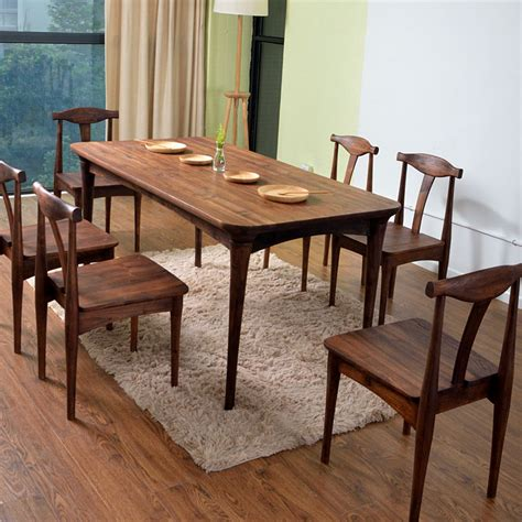 All Wood Dining Room Furniture All Solid Wood Dining Table Dinette Combination Ash American New Modern Minimalist