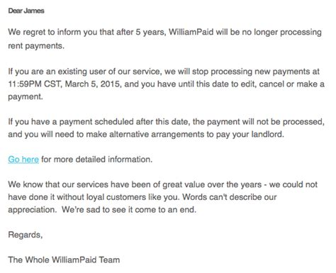 Credit Card Fee Letter Pay Rent Via Credit Card Company Williaid Shuts The Forward Cabin