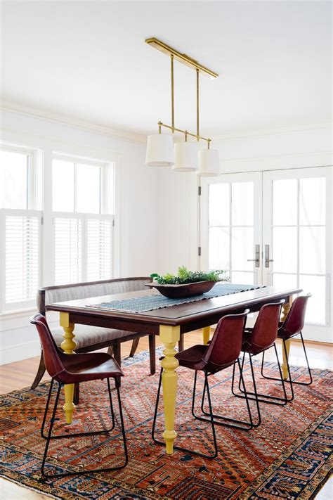 boston cream leather chairs dining room southwestern