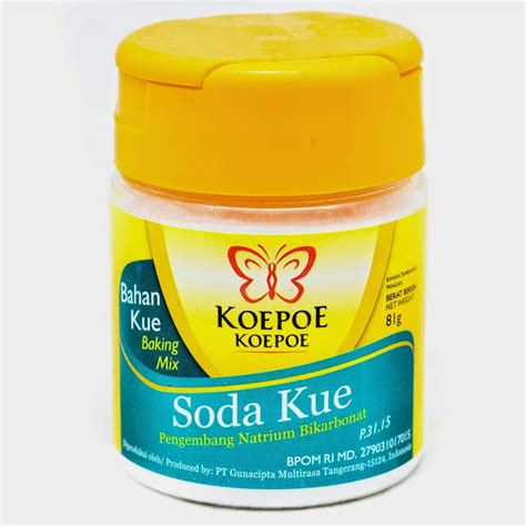 Koepoe Koepoe Soda Kue 81gr bahan stock di dapur archives easy cooking with omih