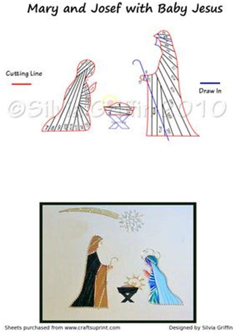 free nativity tunnel card template nativity iris folding pattern cup24016 262 craftsuprint