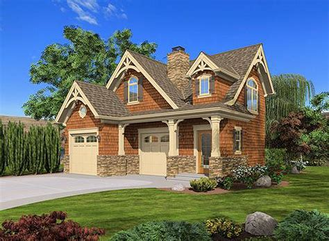 craftsman cottage or carriage house plan 23488jd