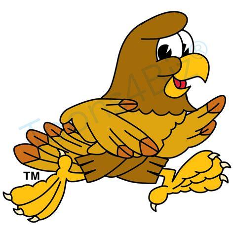 mascot clipart hawk mascot running clip clip graphic
