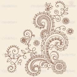 free coloring pages of henna flowers
