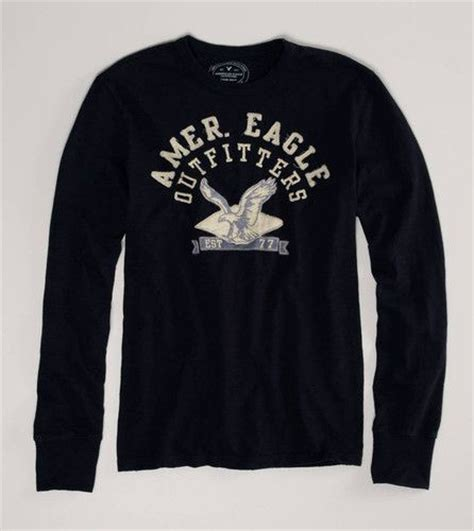 american eagle graphic tees men ae american eagle men s signature long sleeve graphic tee