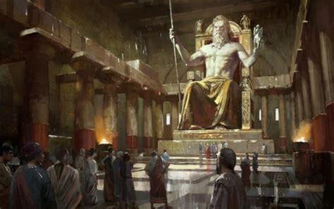 imagenes de la estatua del dios zeus una maravilla de la antig 252 edad la colosal y poderosa