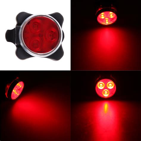 Headl Lu Kepala Dengan 2 Led 2017 bike light front 3 led bicycle taillight rear light rechargeable battery with usb