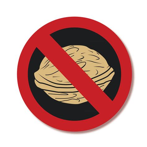 No 1 Nuts allgy tree allergy alert labels no tree nuts lovable labels