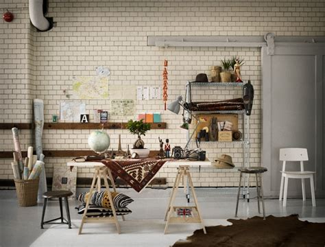 trestle desk interior design ideas