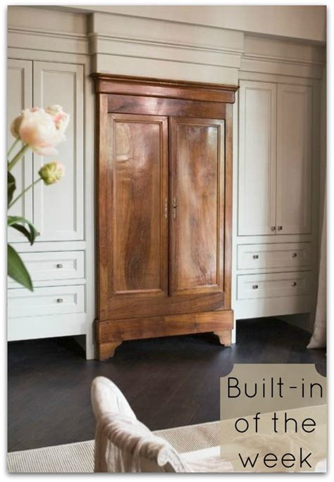 built in armoire built in of the week an armoire to die for fieldstone