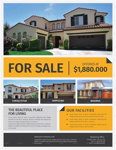 real estate for sale flyer template real estate flyer by lilynthesweetpea graphicriver
