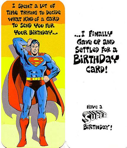 printable birthday cards superman superman friends greet fans in hilarious cards from 1978