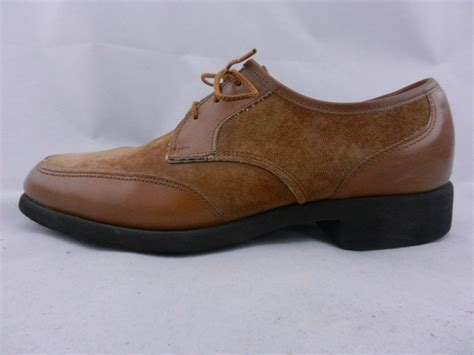 womens hush puppies shoes size 7 wide brown leather lace