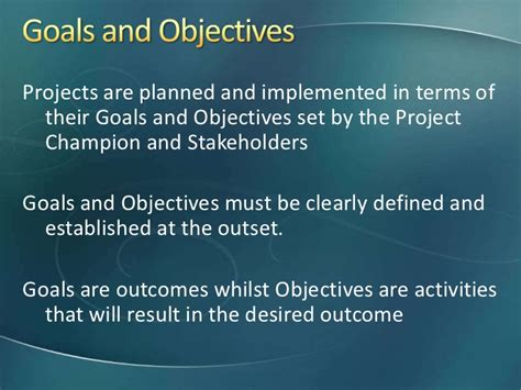how to frame goals and objectives in a project proposal