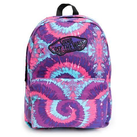 vans realm pink purple tie dye backpack from zumiez