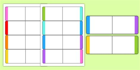 Blank Loop Cards Template by Editable Colour Loop Card Templates Loop Cards Cards