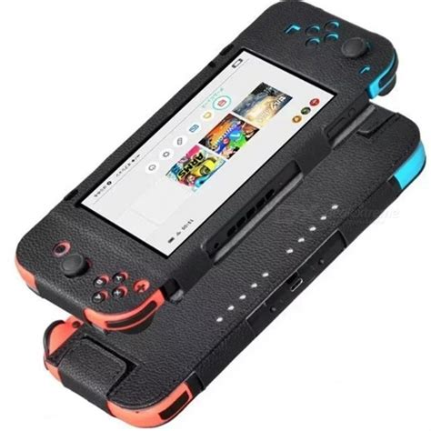 visitor pattern switch case pu leather protective case for nintendo switch black