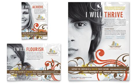 Church Youth Group Flyer Ad Template Word Publisher Youth Brochure Template Free