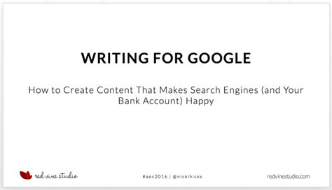 google design writing writing for google how to create content that makes