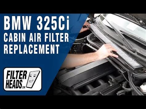 Bmw Cabin Air Filter cabin air filter replacement bmw 325ci