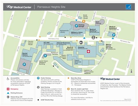 san francisco ucsf map ucsf parnassus center maplets