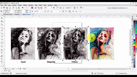 corel draw x6 halftone color separation with coreldraw youtube