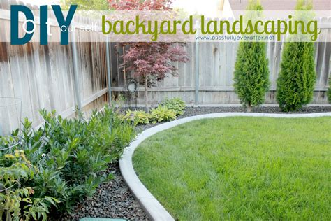 diy backyard landscaping patio makeover on a budget blissfully ever after