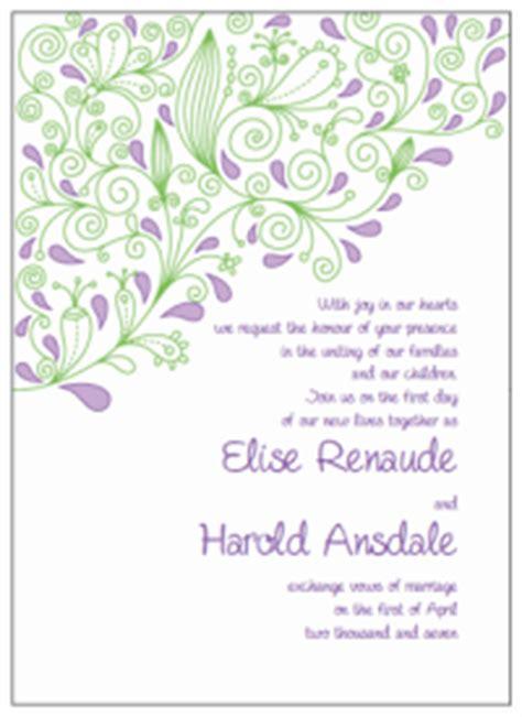 purple and green wedding invitation templates purple and green paisley wedding invitations