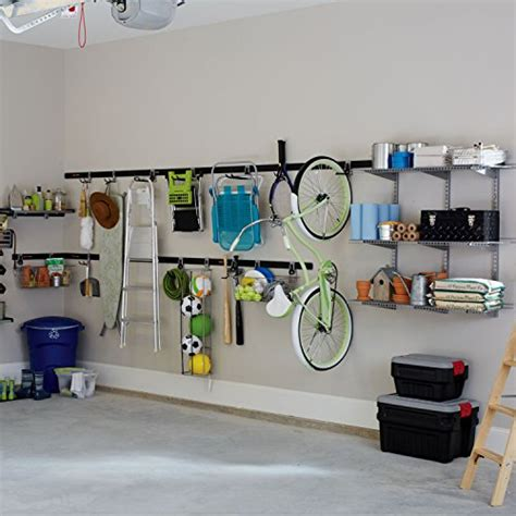 rubbermaid fasttrack garage storage system vertical bike