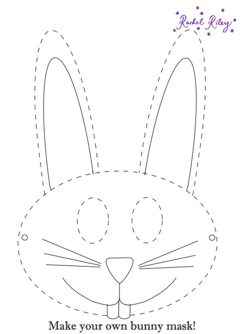 make your own mask template activity bunny mask print out and make
