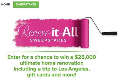 Hallmark Channel Com Giveaway - hallmark channel renew it all sweepstakes sweepstakes pit