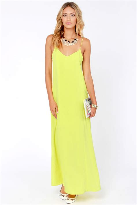 Dress Cantik Saphira Maxi Dress i ll slink to that chartreuse maxi dress 25 fashion dresses on sale at lulus