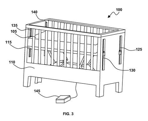 Crib Adjustable Height by Patent Us20120297537 Crib With Adjustable Height Mattress Patents
