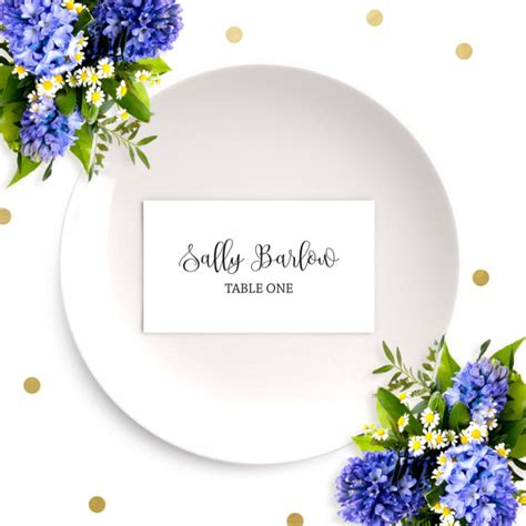 dinner name card template wedding place cards chic calligraphy cards diy