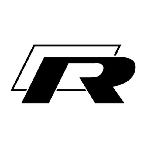 R Sticker vw r generation logo decal
