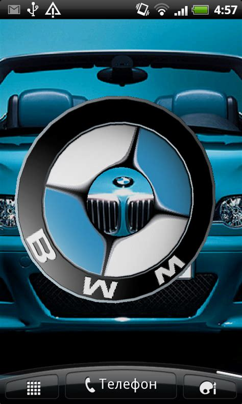 bmw live wallpaper free bmw 3d logo live wallpaper apk for android
