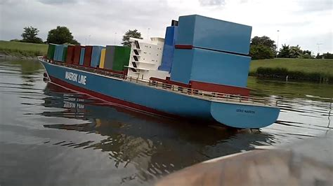 big scale rc boats for sale gerd maersk not so scale model rc boat youtube