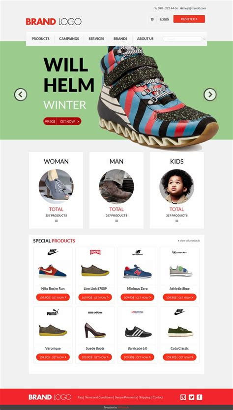 Free Template Ecommerce With Responsive Design Free Responsive Ecommerce Website Templates