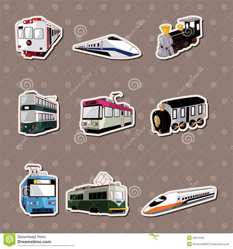 printable train stickers train stickers stock vector illustration of illustration
