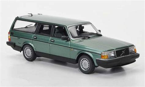 volvo 240 model car volvo 240 gl kombi green 1986 minichs diecast model car