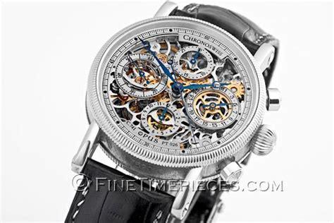 Uhr Mit Sichtbarem Uhrwerk by Chronoswiss Opus Chronograph Platin Ref Ch 7520 S