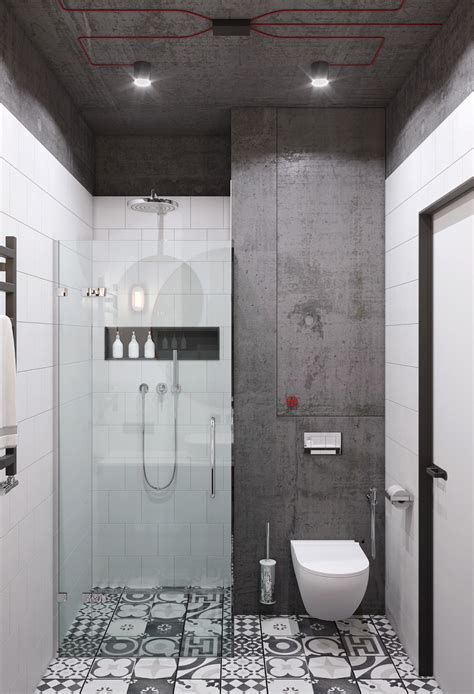 red accent bathroom home designing 5 studio apartments with inspiring modern