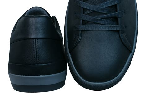 geox u smart f mens leather trainers shoes black at