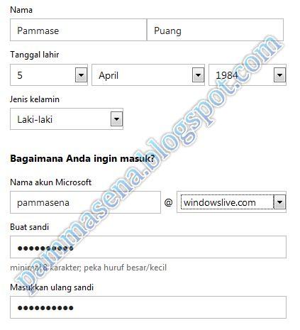 membuat email hotmail cara membuat email hotmail baru di windows live pammasena