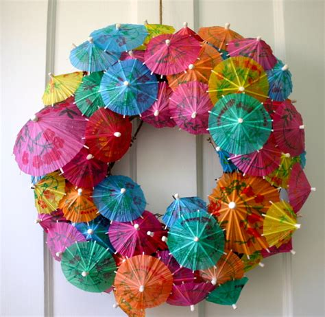 How To Make Paper Umbrellas At Home - paper umbrella wreath 183 how to make a recycled wreath