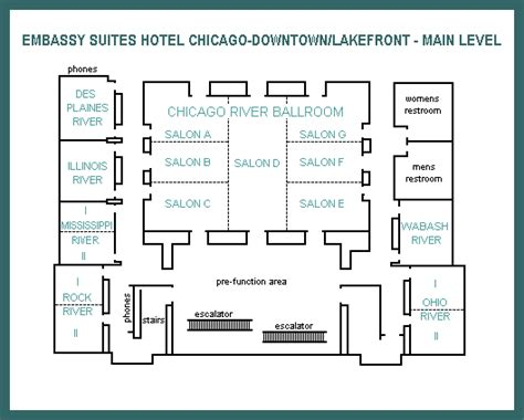 embassy suites floor plan main level floor map