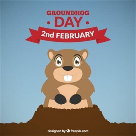 groundhog day years lovely happy groundhog day background vector free